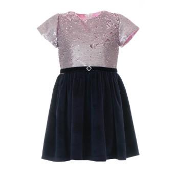 Φόρεμα Glous ροζ-μαρέν