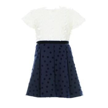 Φόρεμα Glous εκρού-μπλε