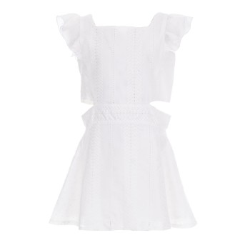 Φόρεμα Glous εκρού γκιπούρ
