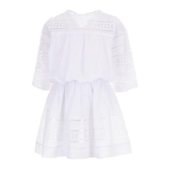 Φόρεμα Glous λευκό 3/4 μανίκι