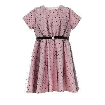 Φόρεμα Glous ροζ πουά