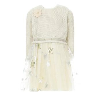 Φόρεμα Glous πλεκτό-χρυσό