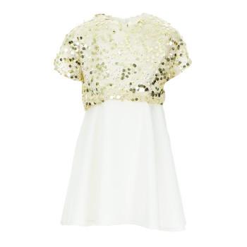 Φόρεμα Glous χρυσό-εκρού