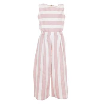 Ολόσωμη φόρμα Glous ροζ-εκρού