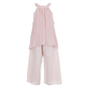 Φόρμα ολόσωμη Glous εκρού ροζ