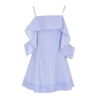 Φόρεμα Glous ριγέ σιελ