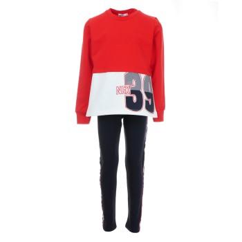 Σύνολο Nekidswear κόκκινο-μαρέν