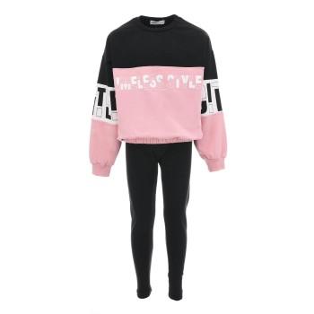 Σύνολο Nekidswear ροζ-μαύρο