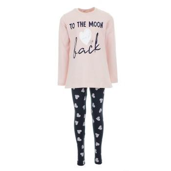 Σύνολο Nekidswear ροζ-μαρέν