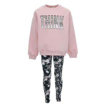 Σύνολο Nekidswear ροζ-εμπριμέ