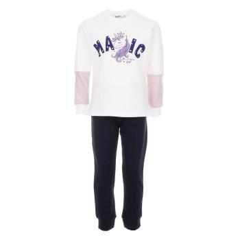Φόρμα Nekidswear λευκό-μαρέν