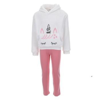 Σύνολο Nekidswear εκρού-ροζ