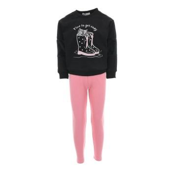 Σύνολο Nekidswear μαύρο-ροζ