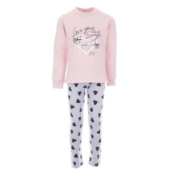 Σύνολο Nekidswear ροζ-γκρι