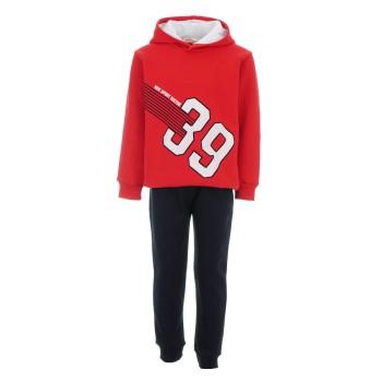 Φόρμα Nekidswear κόκκινο-μαύρο φούτερ