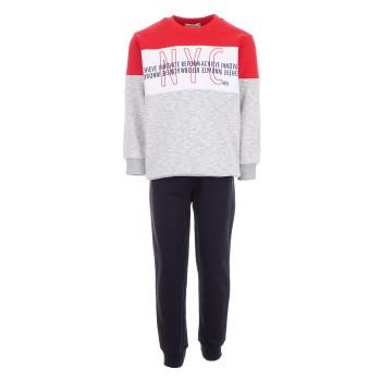 Φόρμα Nekidswear κόκκινο-μαύρο