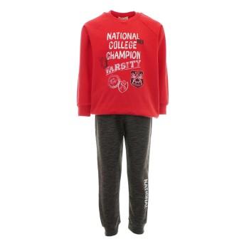 Σετ φόρμα Nekidswear κόκκινο-ανθρακί