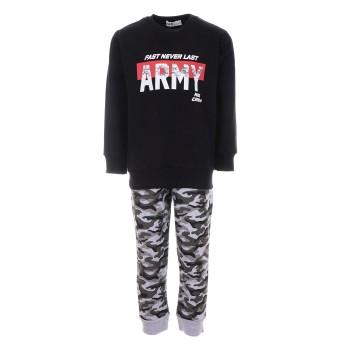 Φόρμα Nekidswear μαύρο- army αχνούδιαστη