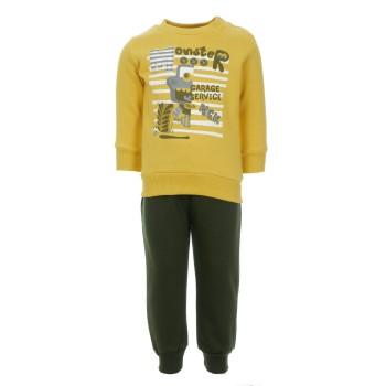 Φόρμα Nekidswear κίτρινο λαδί
