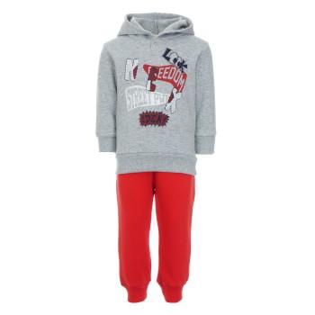 Φόρμα Nekidswear μελανζέ - κόκκινο