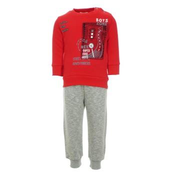 Φόρμα Nekidswear κόκκινο - μελανζέ