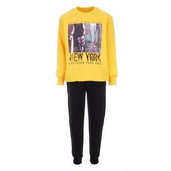 Φόρμα Nekidswear κίτρινο-μαύρο