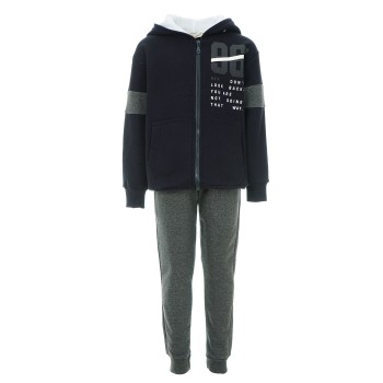 Φόρμα Nekidswear ζακέτα μαρέν-ανθρακί φούτερ