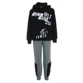 Φόρμα Nekidswear μαύρο-γκρι