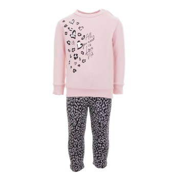 Σύνολο Nekidswear ροζ-γκρι animal print
