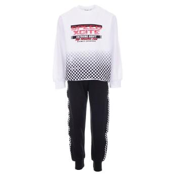 Φόρμα Nekidswear ανοιξιάτικη λευκό-μαύρο