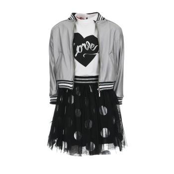 Σύνολο Energiers ασημί-μαύρο 3τμχ με φούστα