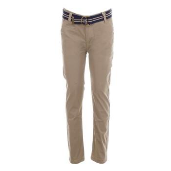 Παντελόνι chinos με ζώνη μπέζ
