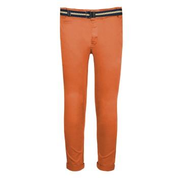 Παντελόνι chinos με ζώνη πάπρικα