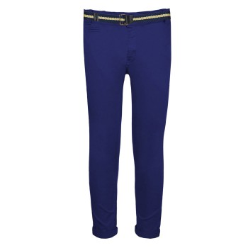 Ελαστικό παντελόνι chinos μπλέ