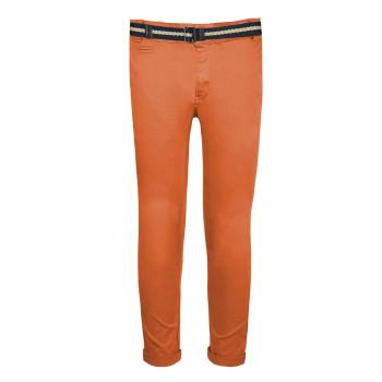 Ελαστικό παντελόνι chinos πάπρικα