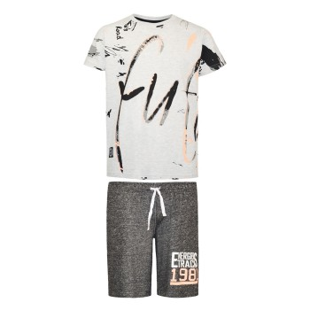 Σετ βερμούδα με τύπωμα στο κάτω μέρος και μπλούζα βαμβακερή με εμπριμέ μοτίβο