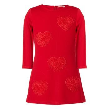Φόρεμα Energiers  με πλεκτές καρδιές