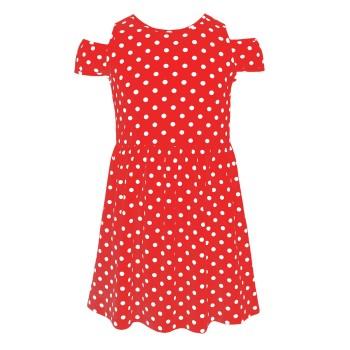 Μακό φόρεμα πουά κόκκινο