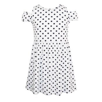 Μακό φόρεμα πουά λευκό