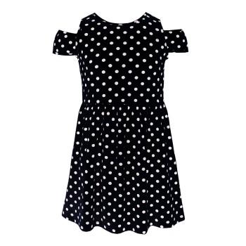 Μακό φόρεμα πουά μαύρο