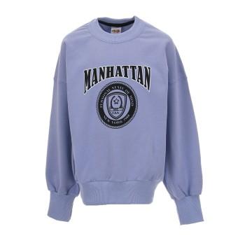 Μπλούζα Cotton Planet λιλά φούτερ MANHATTAN