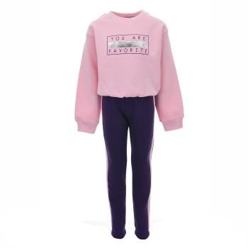 Φόρμα Cotton Planet ροζ-μωβ φούτερ