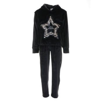 Φόρμα All stars βελουτέ μαύρο