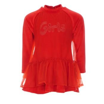Φόρεμα All Stars κόκκινο βελουτέ