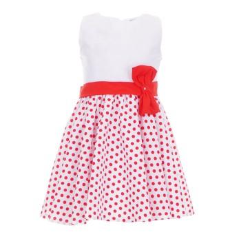 Φόρεμα All Stars λευκό-πουα