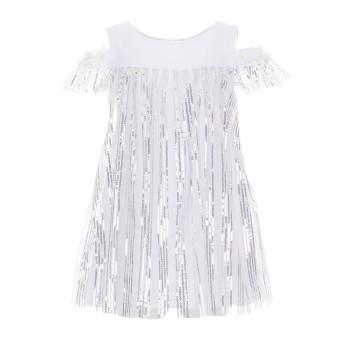 Φόρεμα All stars λευκό ασημί πούλιες