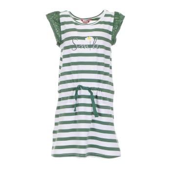 Φόρεμα Boboli λευκό-πρασινο