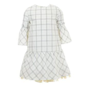 Φόρεμα Boboli εκρού καρό