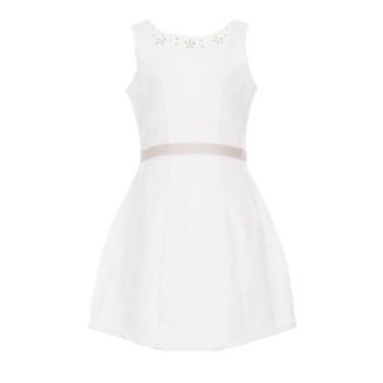 Φόρεμα Boboli εκρού με ζωνάκι
