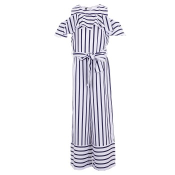 Ολόσωμη φόρμα I do λευκό ριγέ